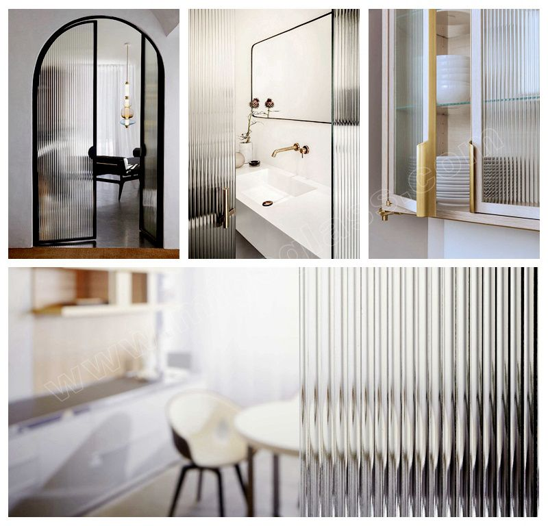 China Manufacturing Fluted Glass Panels Reeded Glass Door Panels Ribbed Glass Interior Door In 2020 Glass Panel Wall Glass Doors Interior Glass Shower Doors