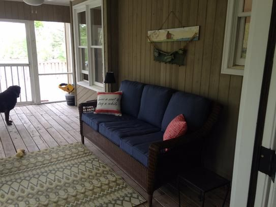 Spring Haven Brown All Weather Wicker Patio Sofa Reclining Sofas And Loveseats Cheap Hampton Bay With Sky Blue Cushions 66 20309 At The Home Depot Mobile