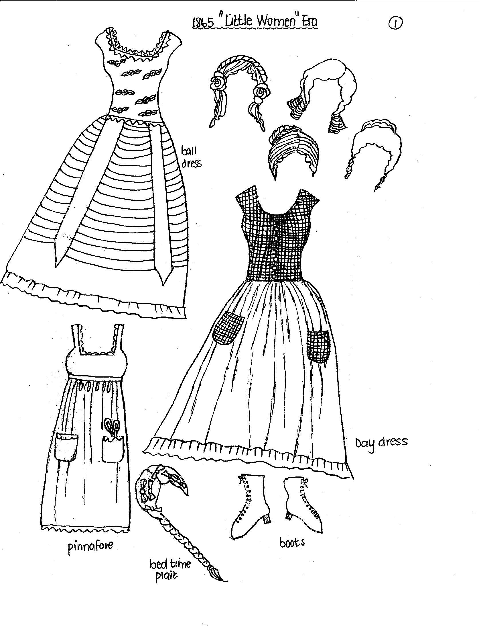Little Women Paper Doll Historical Clothes