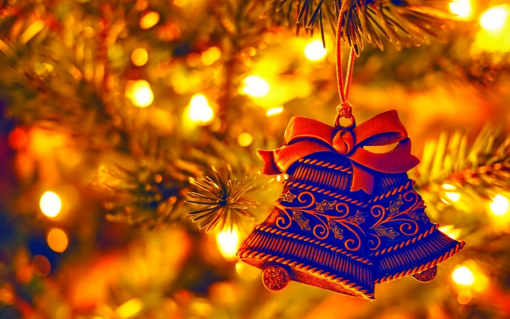 holiday, new year, christmas tree, decorations, bells | iarna