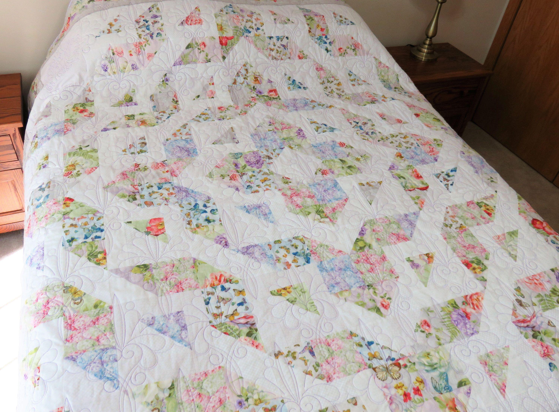 Handmade Quilt For Sale Handmade Queen Size Quilt Full Size Quilt Double Size Quilt Floral Quilt Pastel Quilt Queen Size Blanket In 2020 Handmade Quilts For Sale Queen Size Blanket Queen