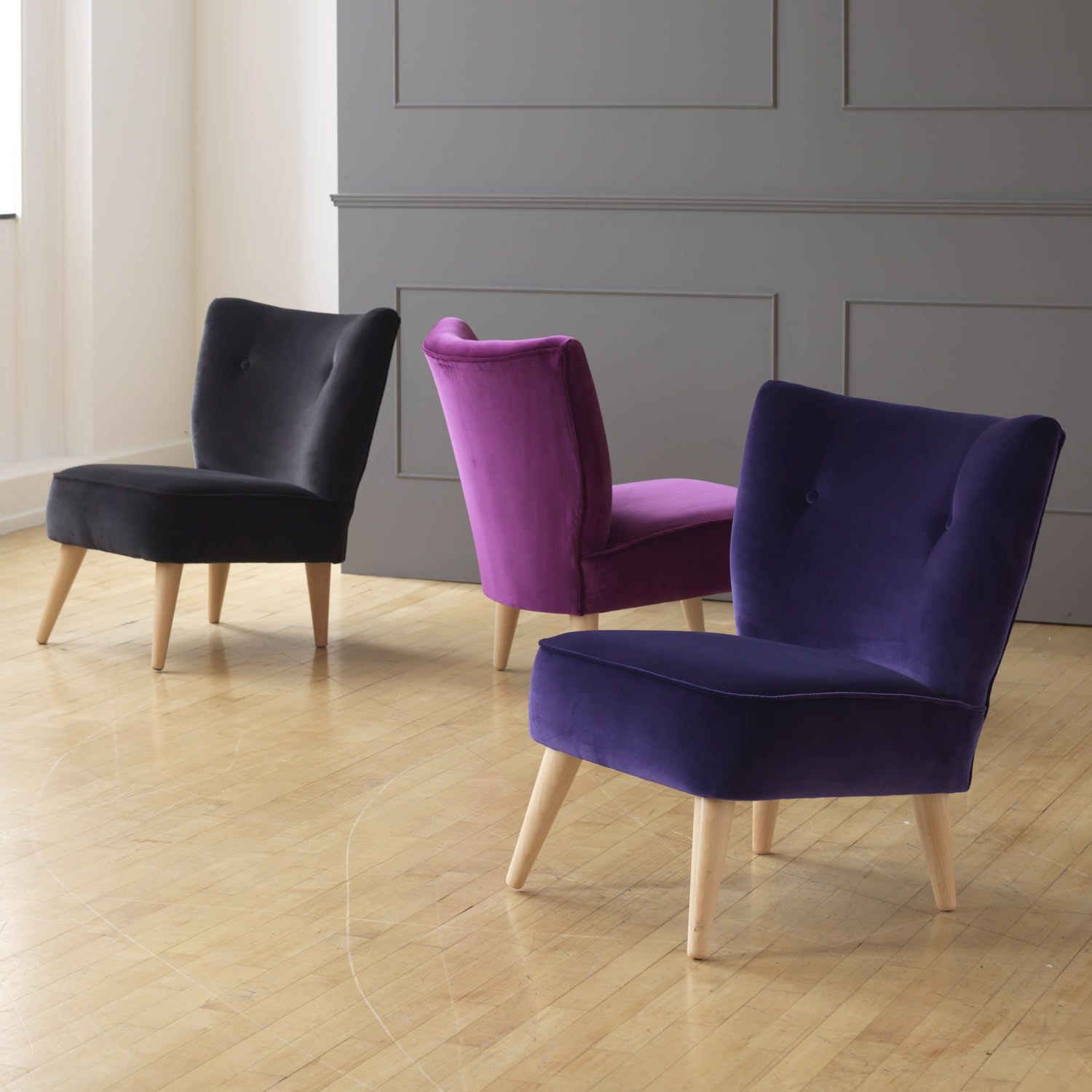 Best We Love These Bijou Accent Chairs In Velvet Perfect For A 640 x 480