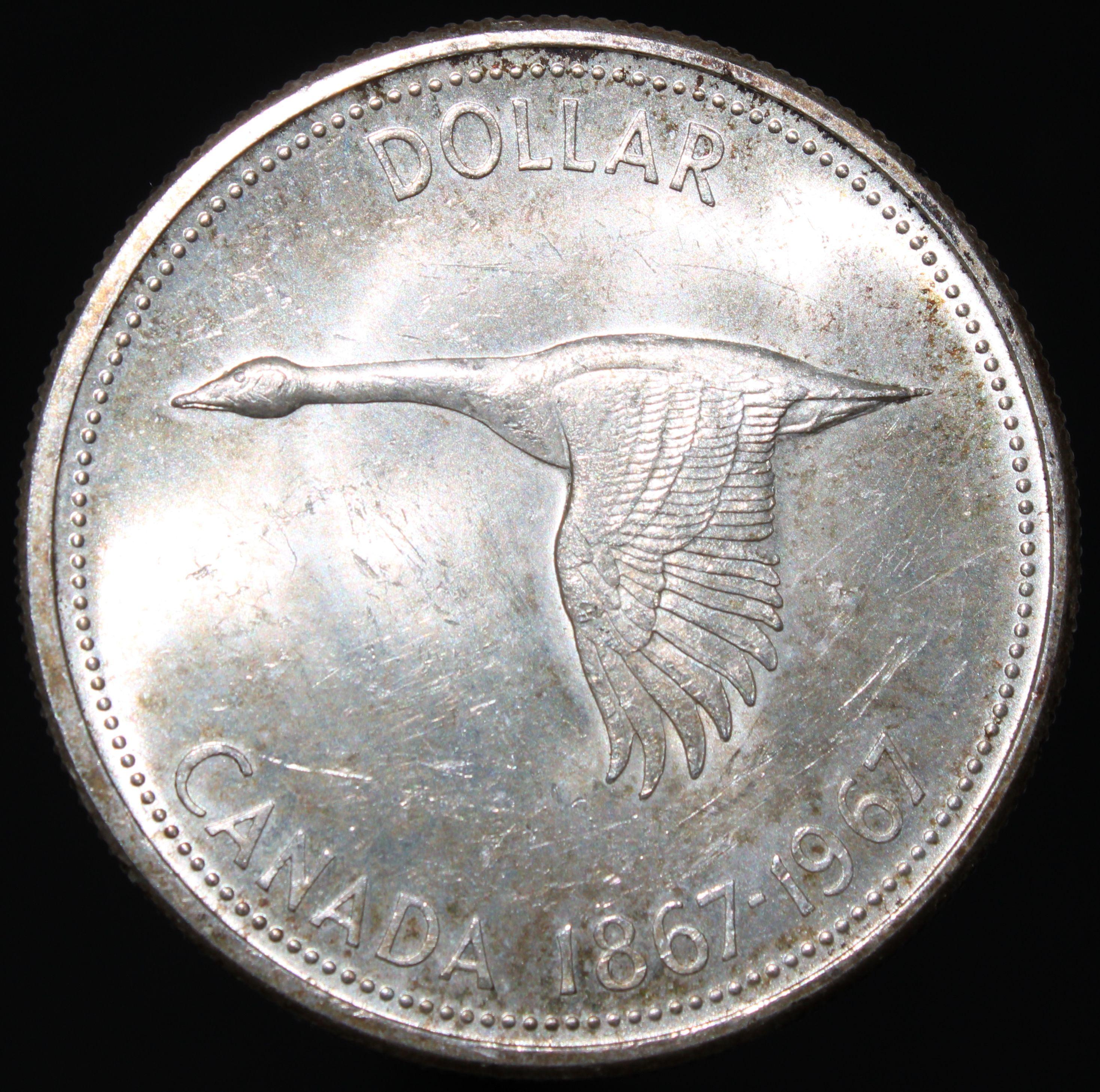 1967 Canada Dollar Silver Coins Km Coins Coins Silver Coins English Coins