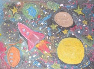 Путешествие в космос   Детские рисунки, Космос, Рисунки