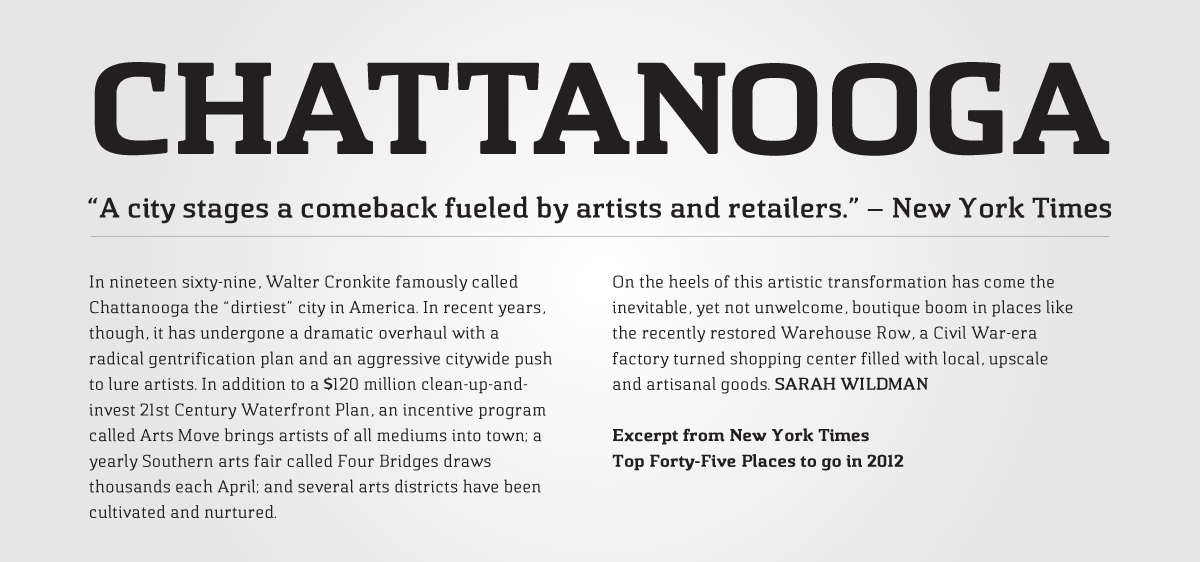 Chatype: A Typeface for Chattanooga, Tennessee.