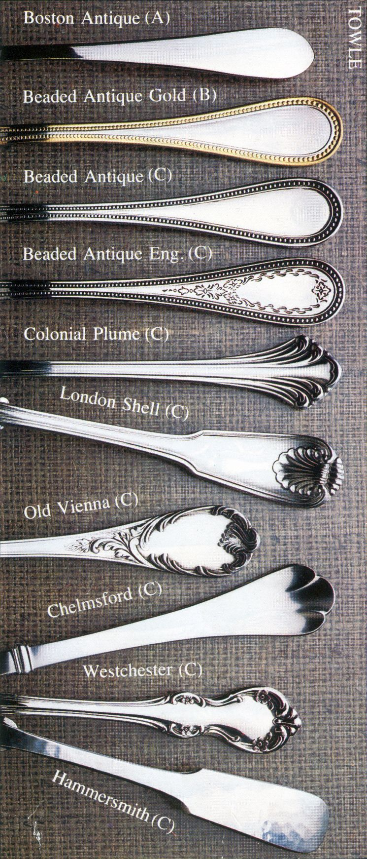 Towle Stainless Flatware Patterns The Table Pinterest