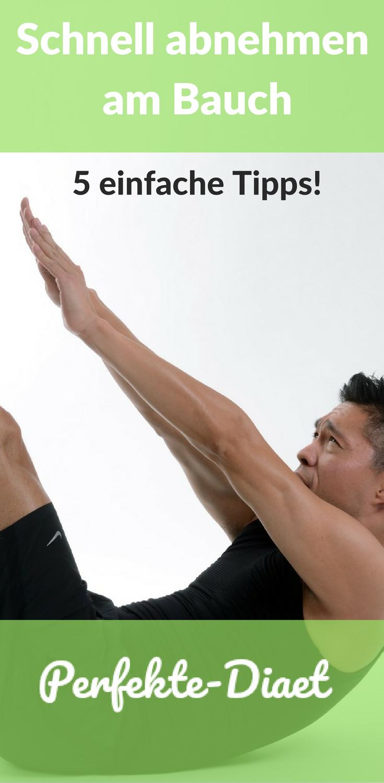 Schnell abnehmen am Bauch mit diesen 5 einfachen Tipps