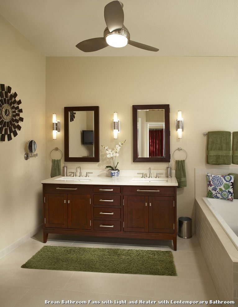Broan bathroom fans with light and heater with contemporary bathroom kitchen lighting from broan bathroom