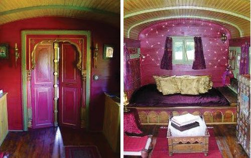 Gypsy caravans can also be rented out to tour around -  a fantastic way to experience the French countryside