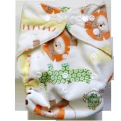 Lil Bums Animal print cloth diaper $13.00