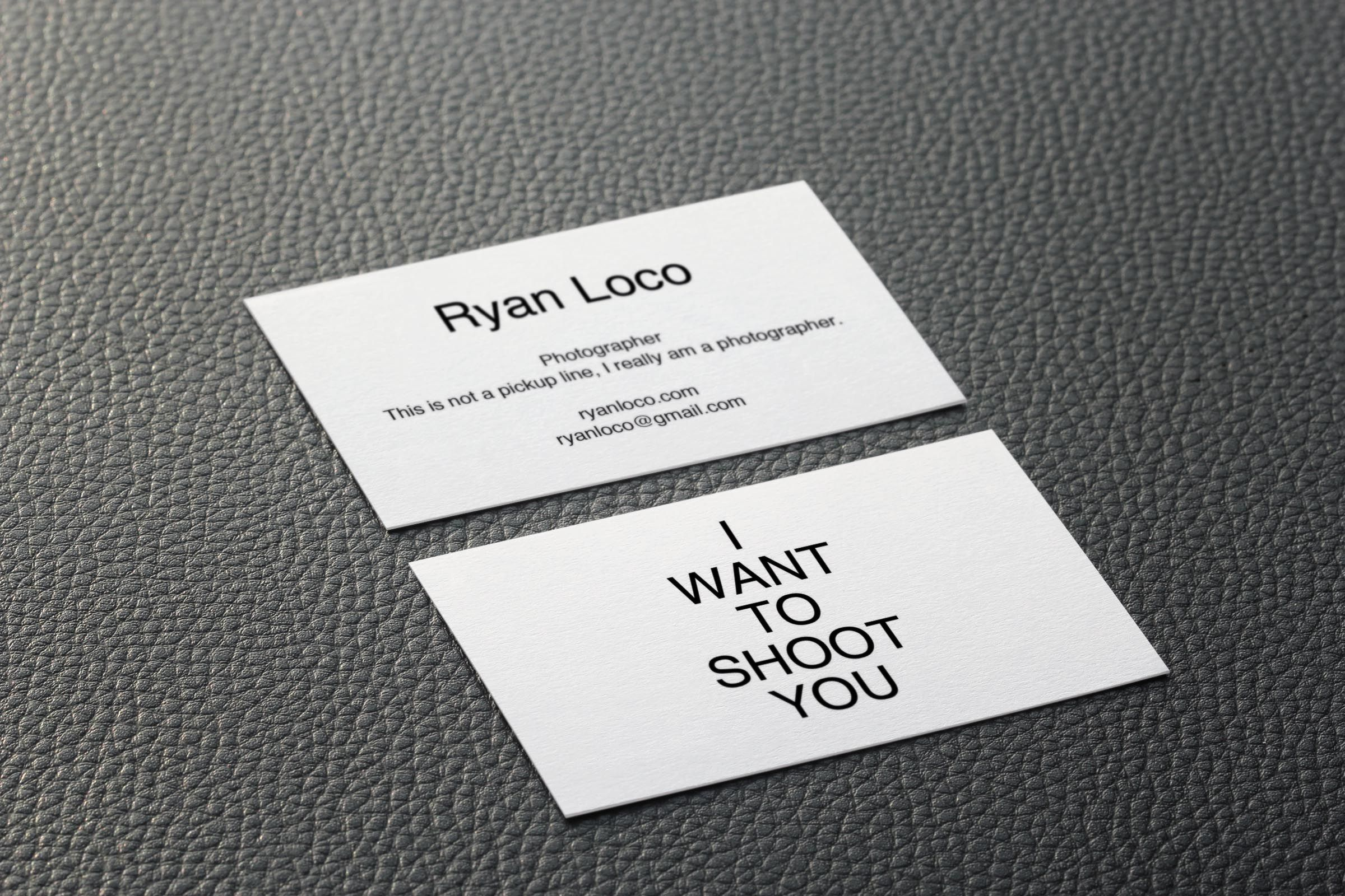 Clean and simple business card for a photography in Florida, his ...