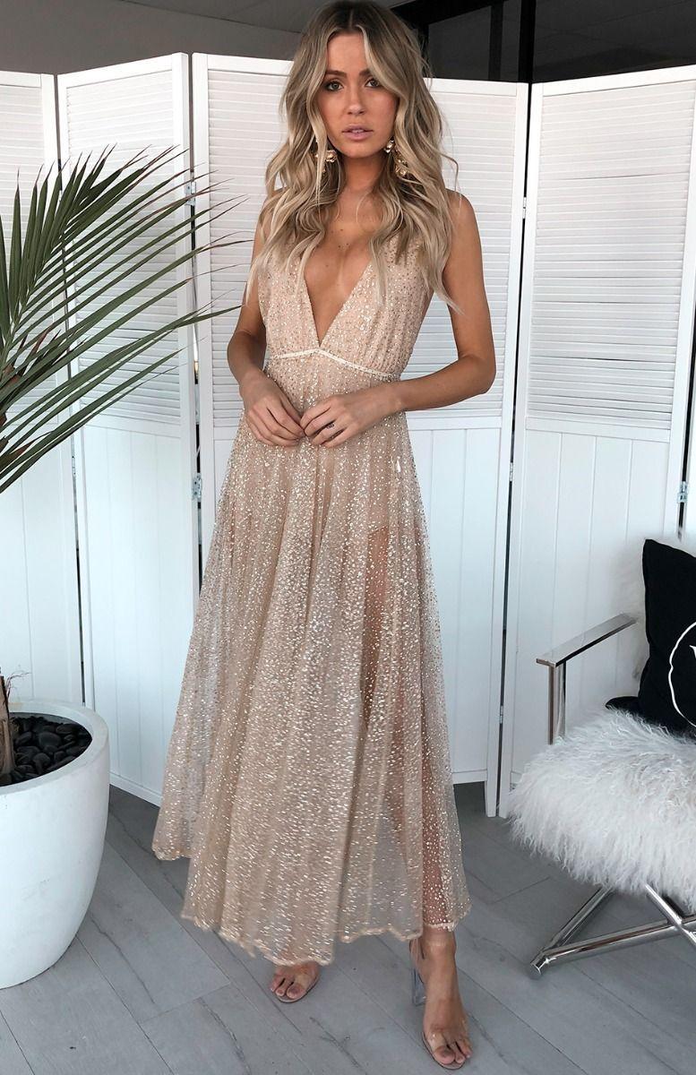 d71337ec Zina Glitter Gown Gold | W | Gowns, Prom, Glitter