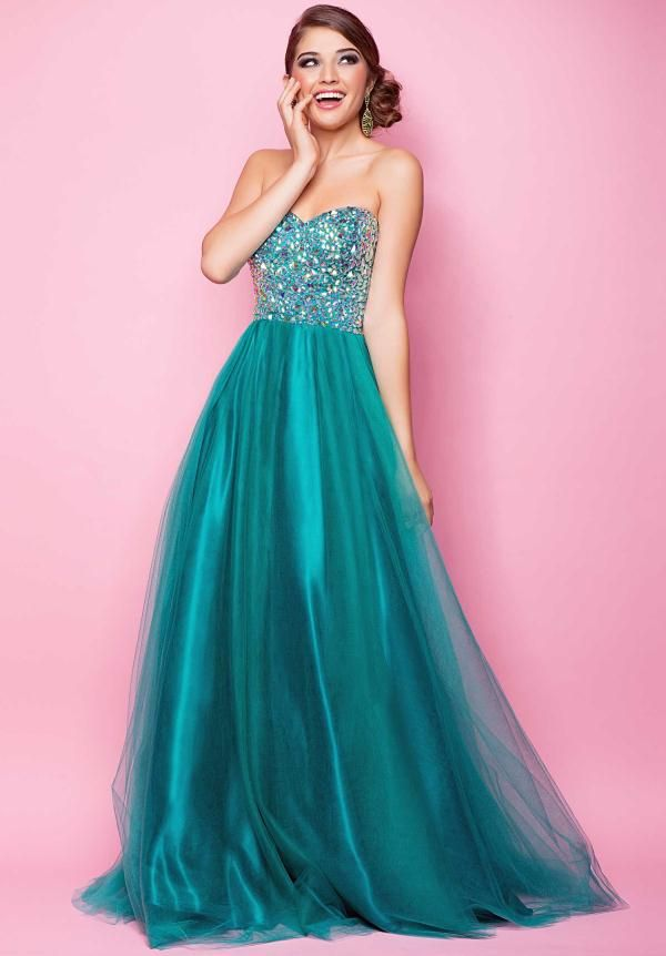 1000  images about Prom Dresses on Pinterest | Blush, Strapless ...