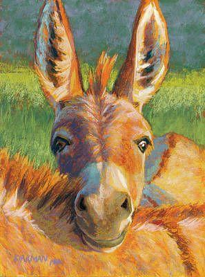 Peek-A-Burro Art Print by Rita Kirkman