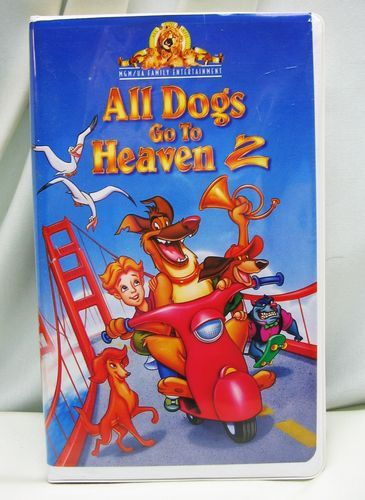 All Dogs Go To Heaven 2 Vhs 1996 Clam Shell Charlie Sheen Movie