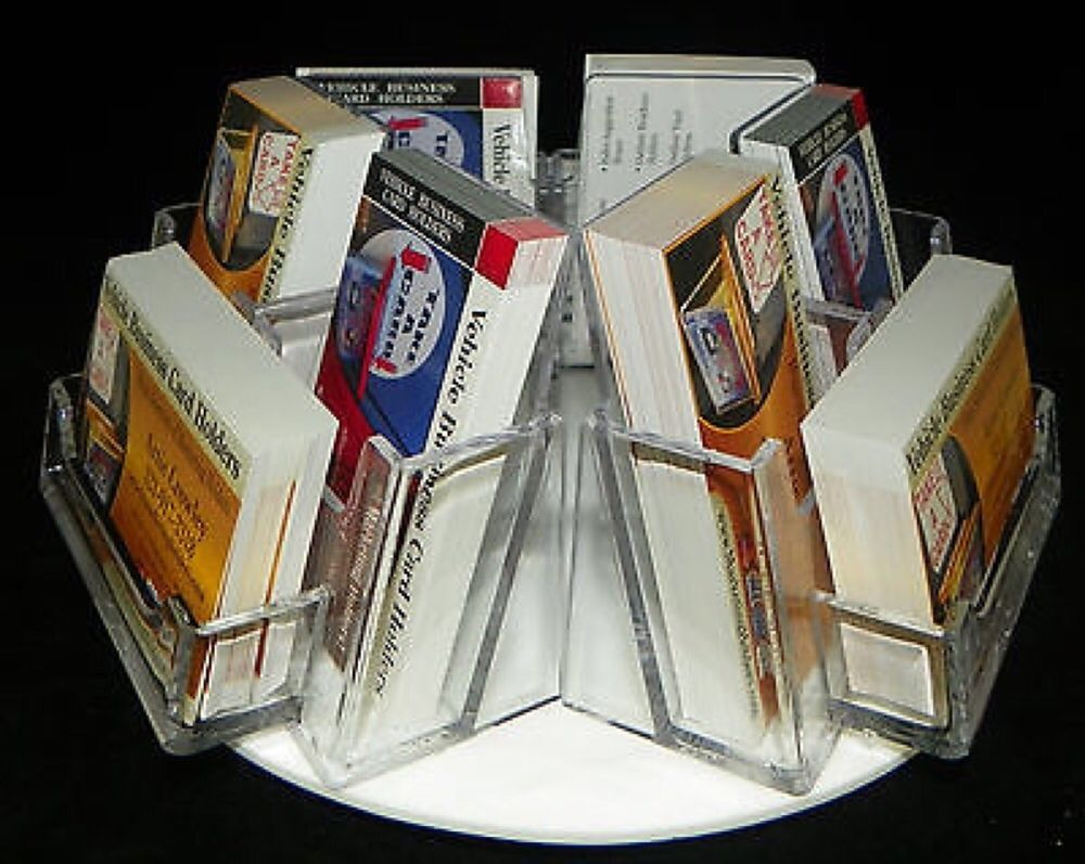 9 Slot Rotating Business Card Holder Counter Top Business Card ...