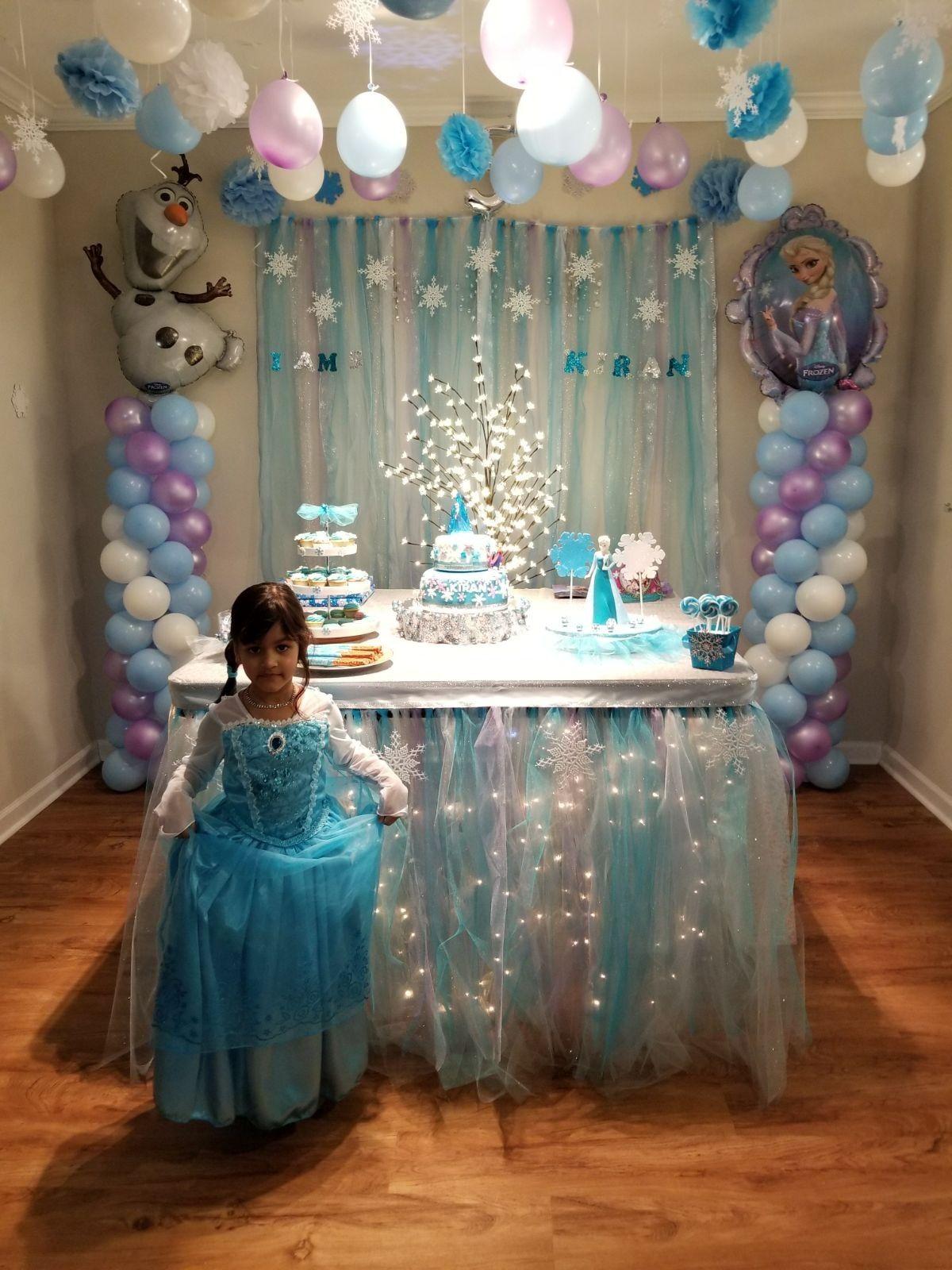 Frozen Birthday Party Elsa Birthday Party Frozen Themed Birthday Party Frozen Party Decorations