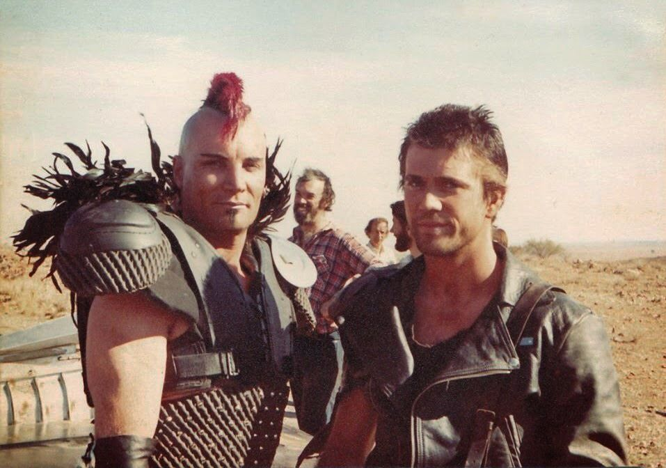Vernon Wells & Mel Gibson as Wez & Max in #MadMax 2 (1981 ... Vernon Wells Mad Max