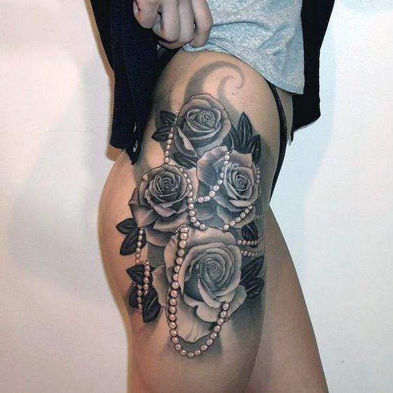 Tatuaże Damskie Na Biodrze Róże Tattoos Tatuaże
