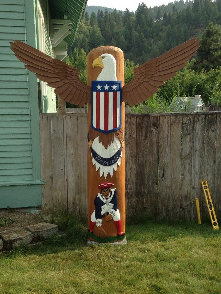 Patriots Totem Pole New england patriots, Patriots