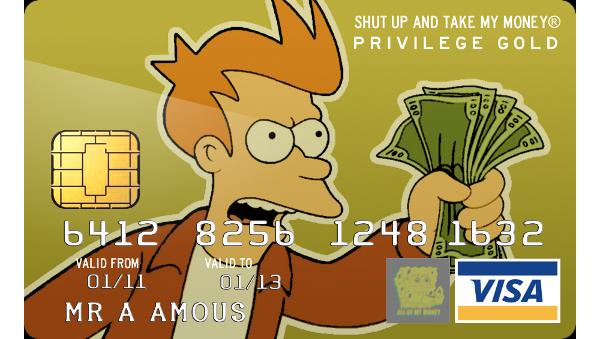 Cool Credit Card Design Article Credit Card Design Take My Money Futurama