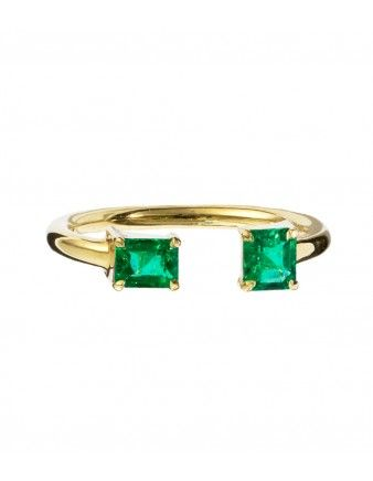 Jemma Wynne Open Emerald Ring