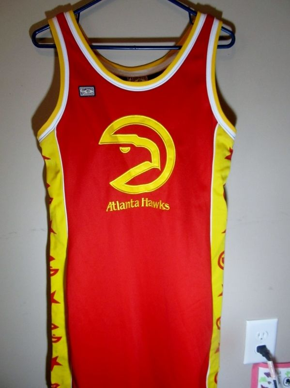 Women S Atlanta Hawks Retro Jersey Dress Hardwood Classics X Large Basketball Nba Jersey Dress Atlanta Hawks Fashion