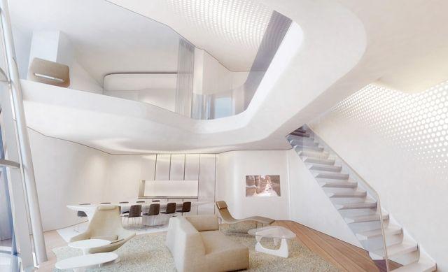 zaha hadid-modern Interieur opus büroturm-dubai kosmopolitisches