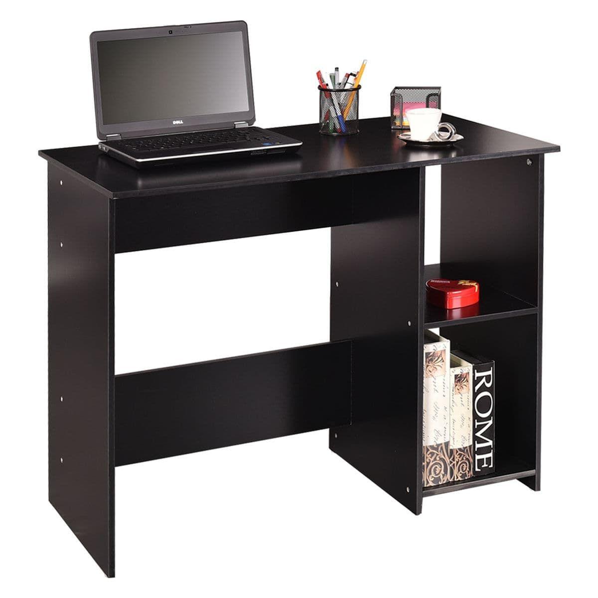home office workstations. costway computer desk laptop table student workstation study home office furniture, black workstations s