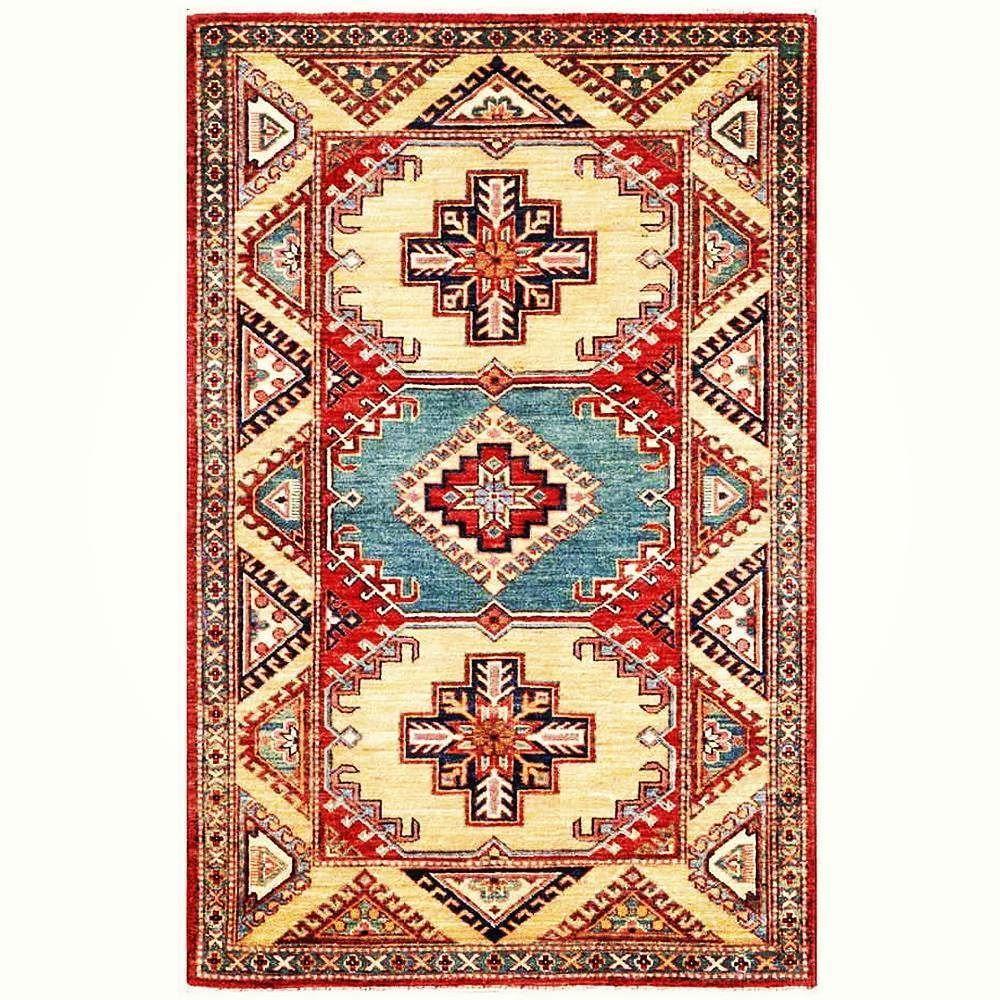 You would like to check this new handmade afghani super kazak rug