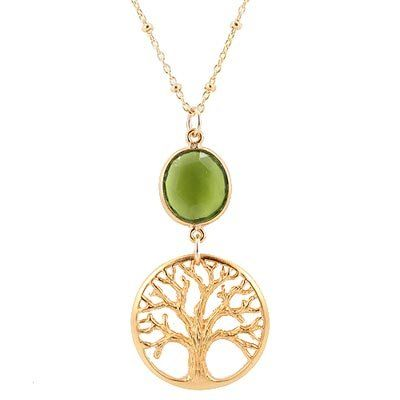 "Detailed Open Design Gold Vermeil Textured Tree of Life Pendant and Faceted Peridot Gemstone on an 18"" 14kt Gold Filled Saturn Bead Chain, #7707 Taos Trading Pendants,http://www.amazon.com/dp/B0043KU5D0/ref=cm_sw_r_pi_dp_HdNnsb1ZNSBK9CQ1"