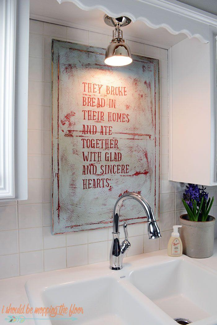 farmhouse sink and diy kitchen art - Kitchen Art