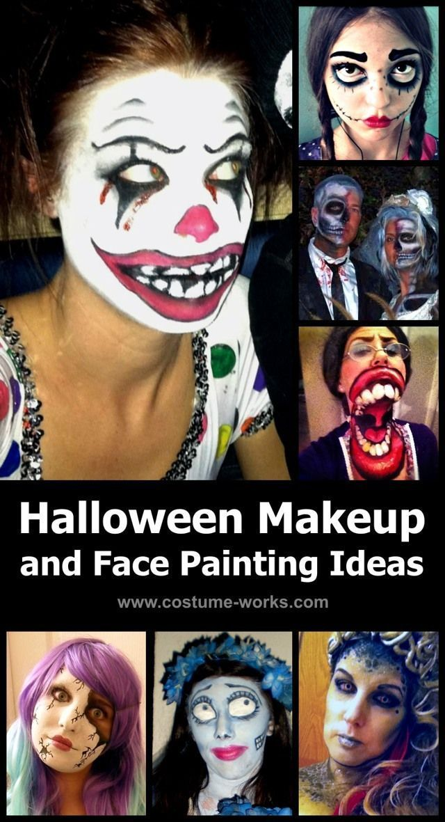 Great collection of most creative Halloween makeup ideas and face - face painting halloween makeup ideas