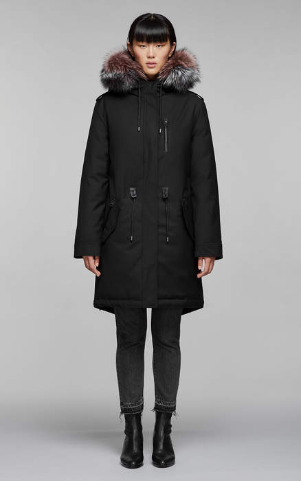 efce9d23339d Mackage RENA-DX down filled twill parka with fur-lined hood