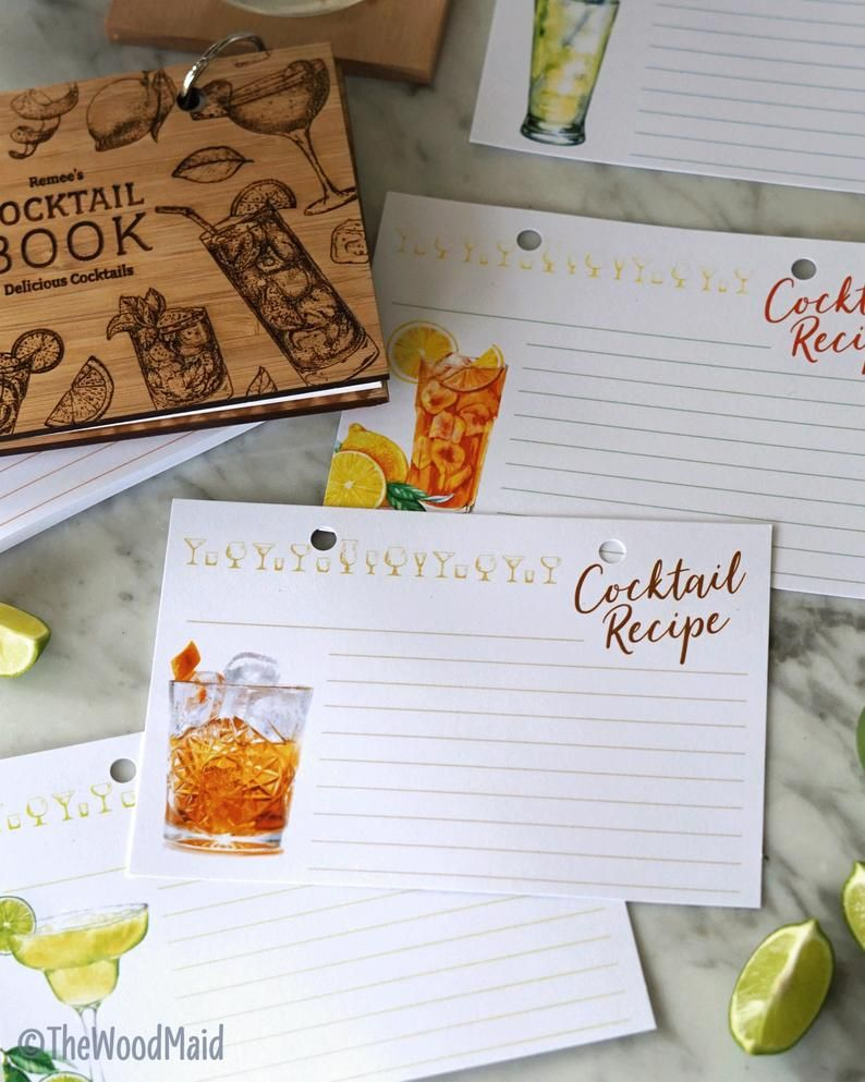 Cocktail Blank Recipe Book Bartender Gift In 2020 Cocktail Recipe Book Kid Drinks Recipes Kid Drinks