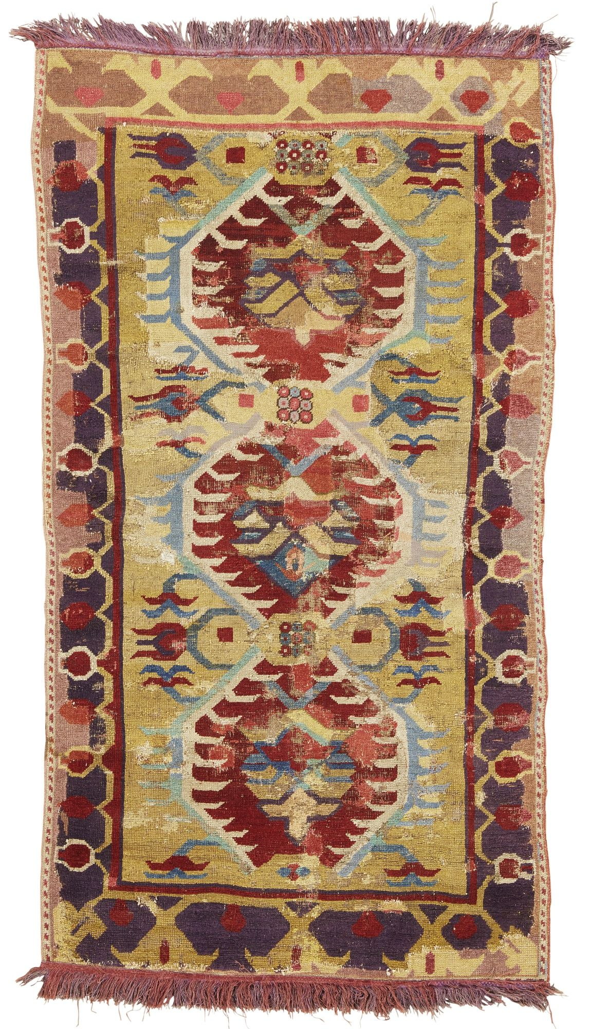 A 'Karapinar' rug fragment, Central Anatolia approximately