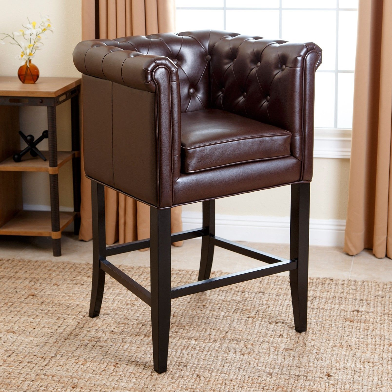 Chesterfield Bar Stool with Cushion | Products | Pinterest