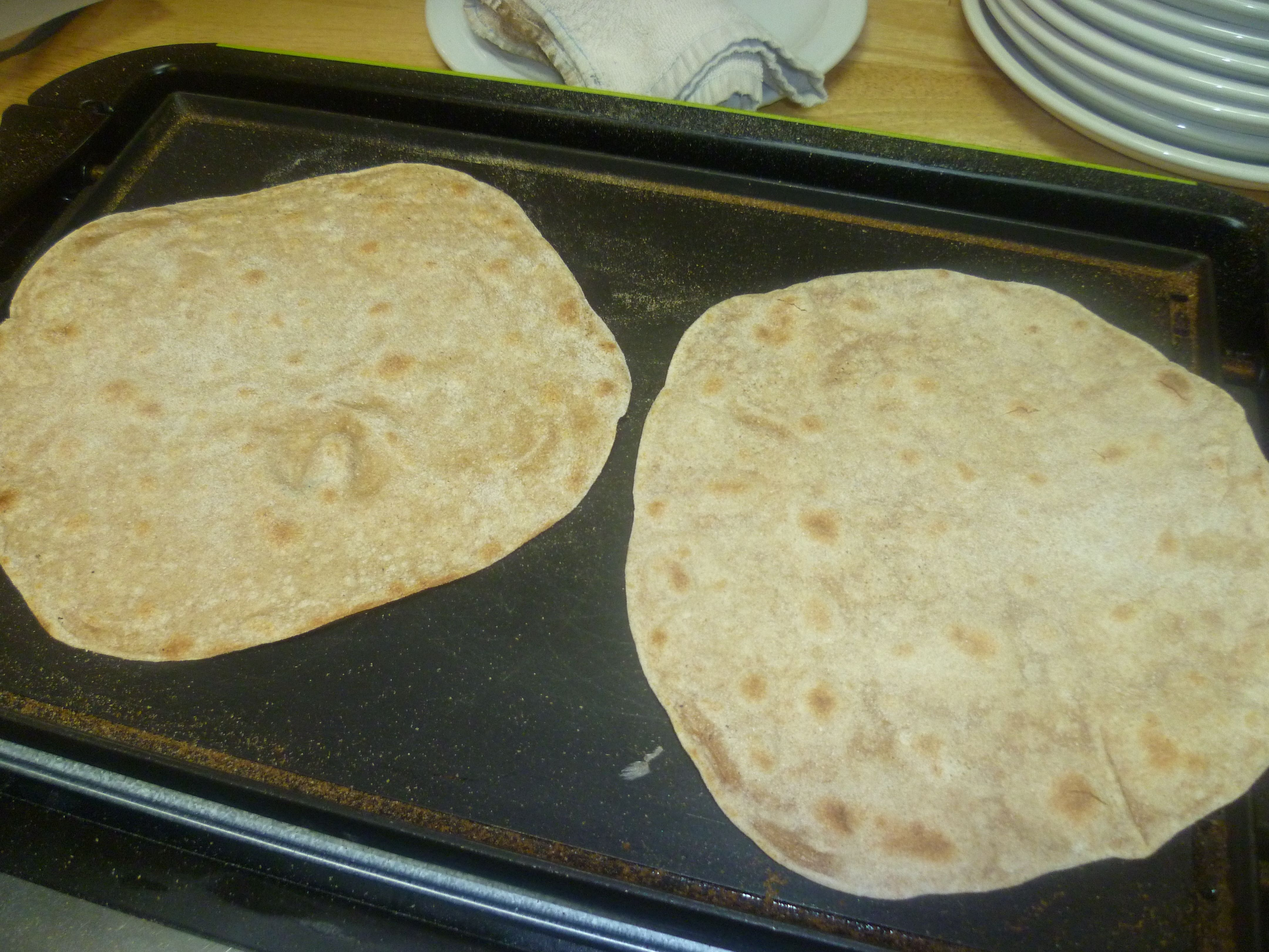 Handmade Chapati...on the griddle!