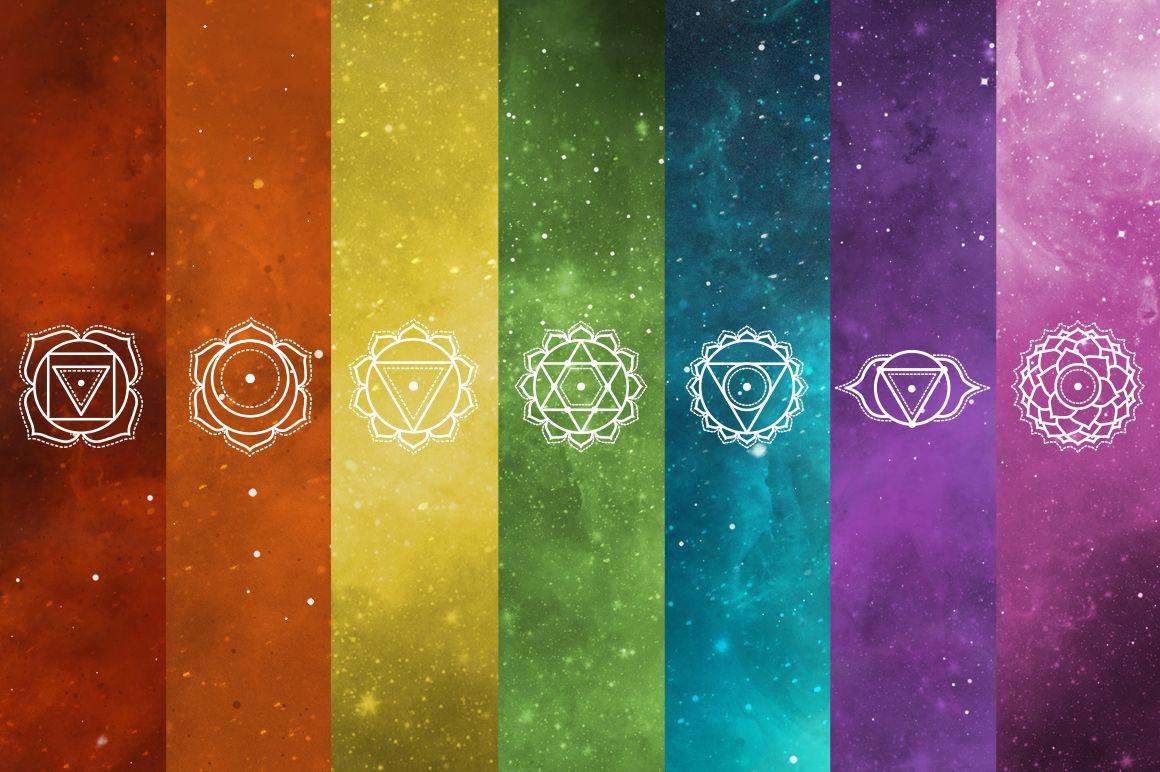 Chakra Symbols Vector Set by skyboxcreative on @creativemarket