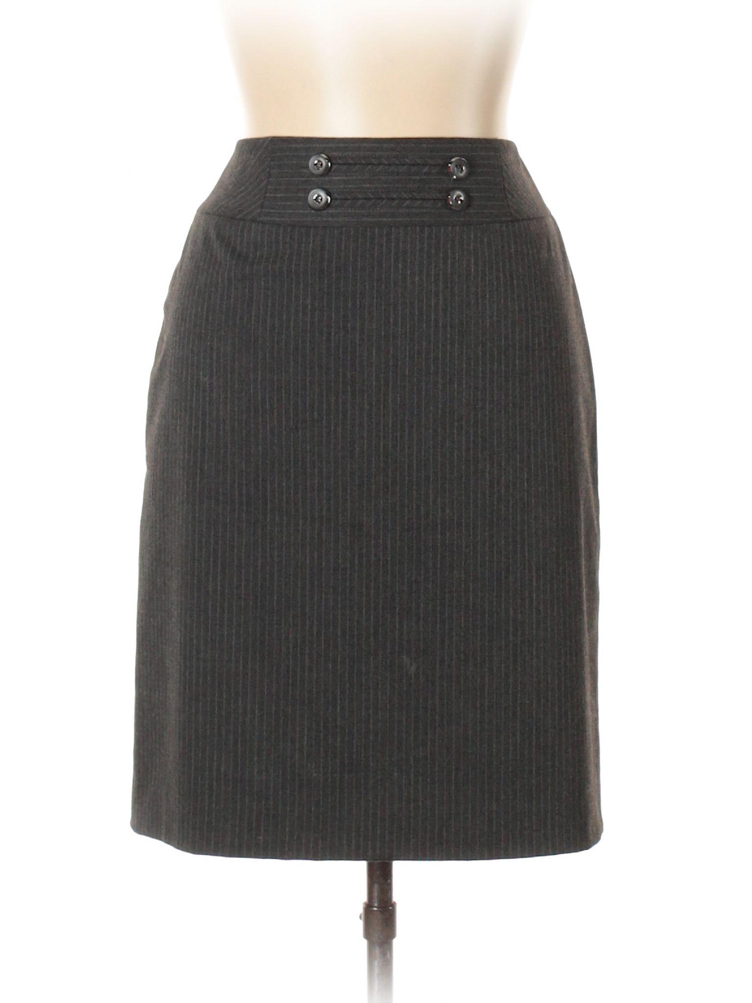 65122cc188 Antonio Melani Casual Skirt: Size 6.00 Gray Women's Bottoms - $7.99