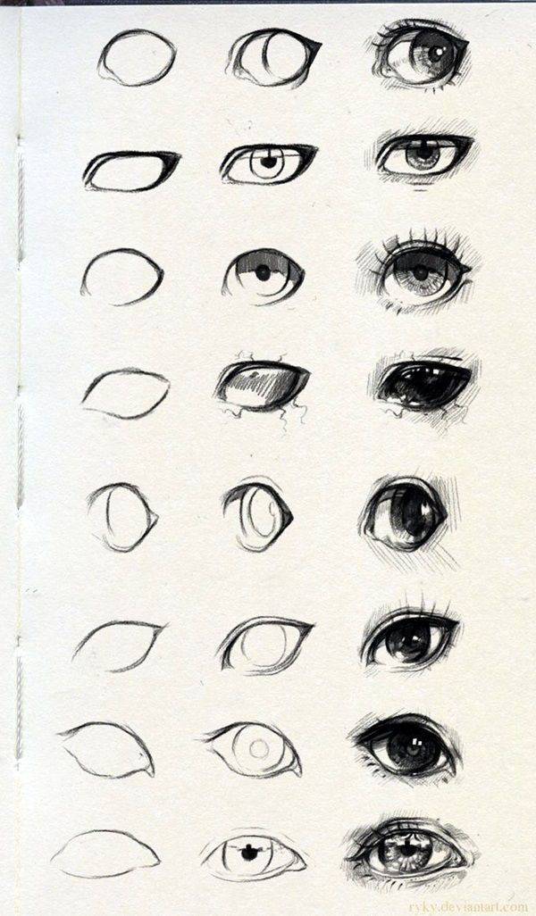 How To Draw Cartoon Eyes And Face