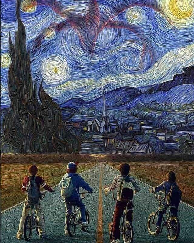 Strnger Things Van Gogh Wallpaper Van Gogh Art Stranger Things Art