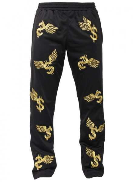cheap for discount 601c8 a6923 JEREMY SCOTT FOR ADIDAS Wing Dollar Track Pants Black