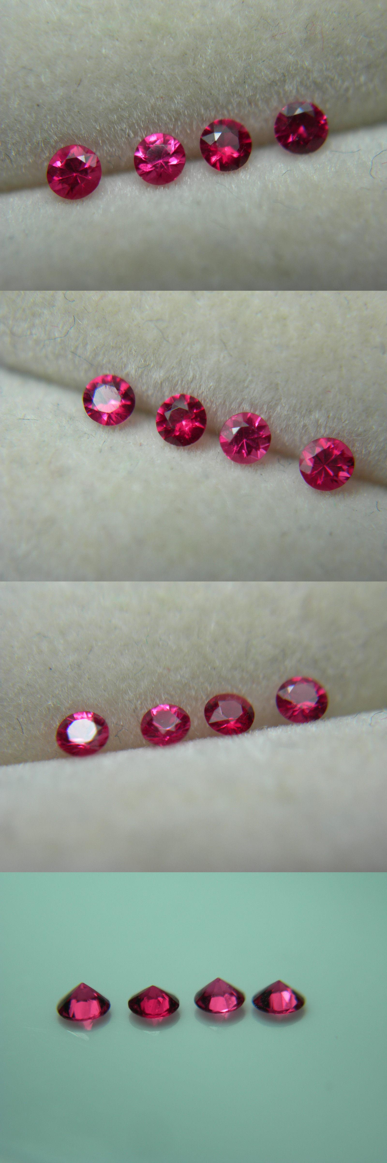 Spinel 110873: 4 Rare Fine Red Spinel Gems Mogok Burma Natural ...