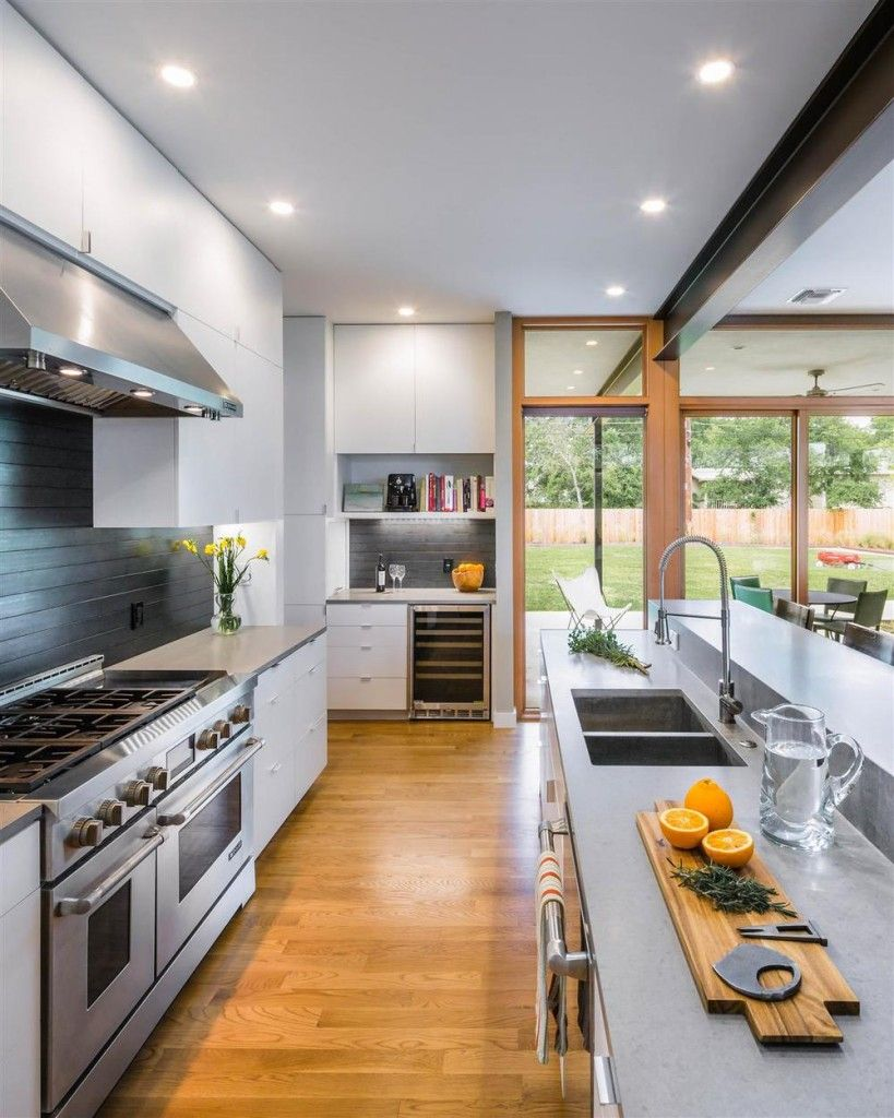 Modern Architecture And Spacious Roof Deck Barton Hills Kitchen