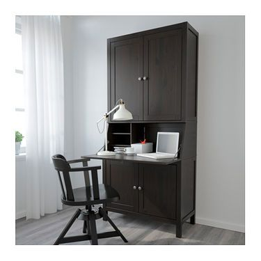 Hoekbureau Hemnes Ikea.Ikea Hemnes Bureau With Add On Unit Solid Wood Is A Durable Natural