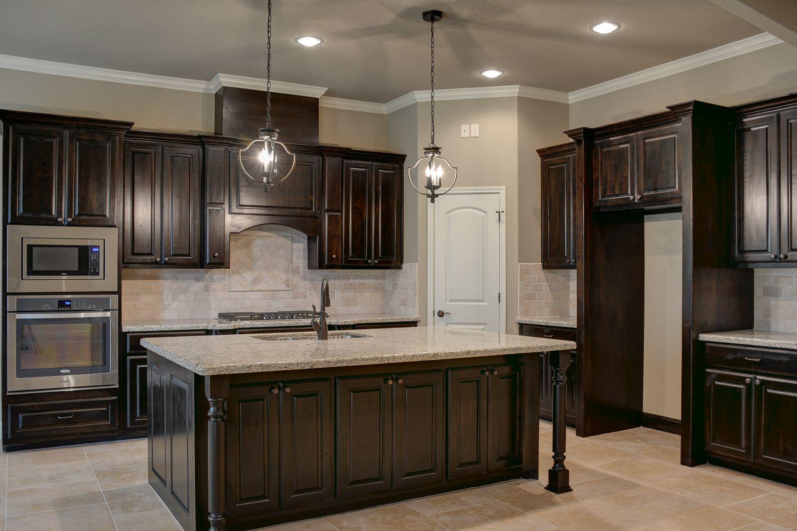Dark Walnut Kitchen Cabinets