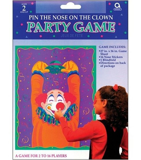 Stick the Nose On The Clown Party Game Great Party Fun for Up to 16 Kids