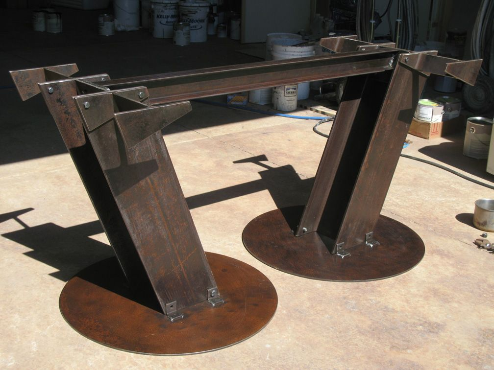 Possible Desk IBeam Dining Table By Ounrtist On DeviantART - Metal conference table legs