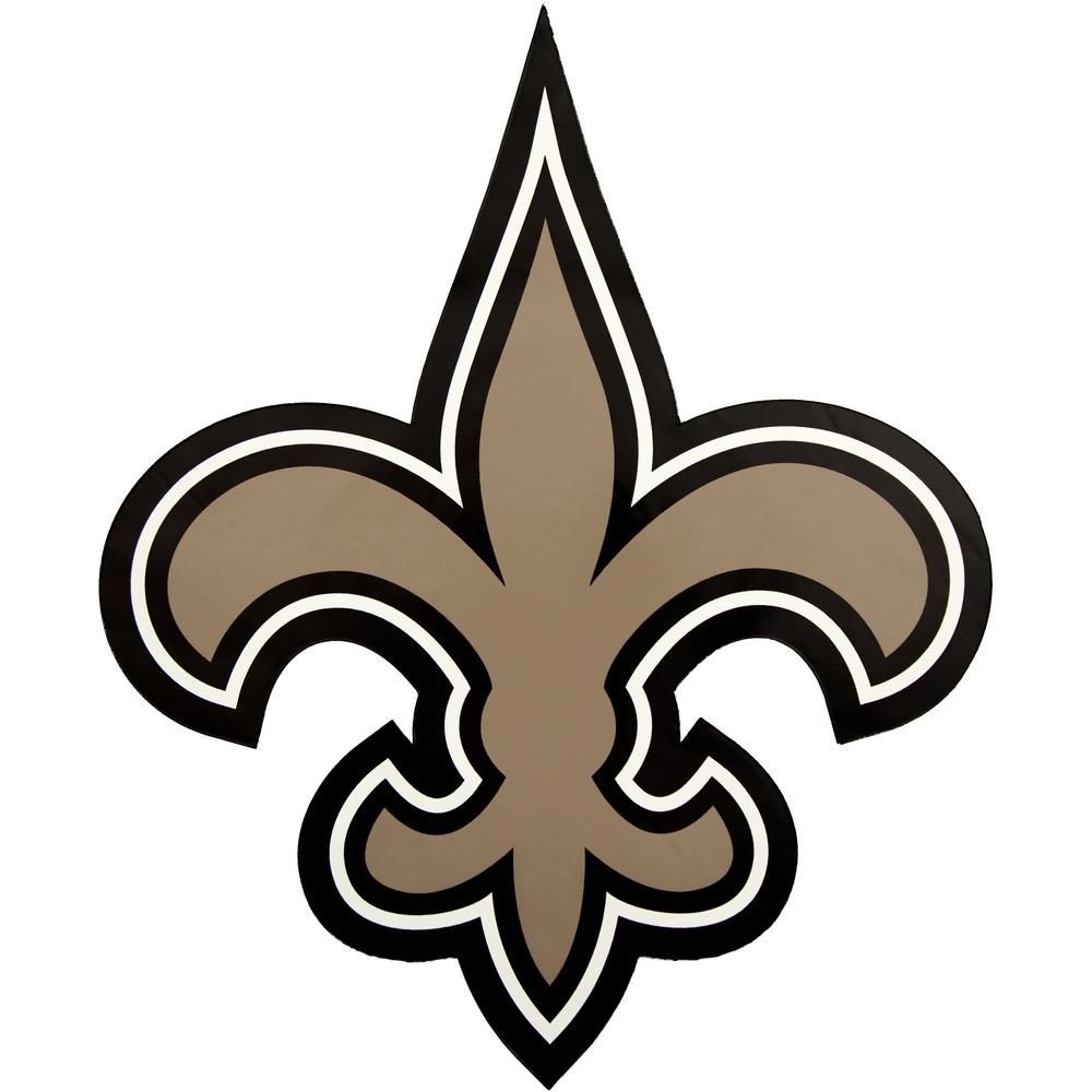 Applied Icon Nfl New Orleans Saints Outdoor Logo Graphic Large Gold New Orleans Saints Logo Saint Coloring New Orleans Saints